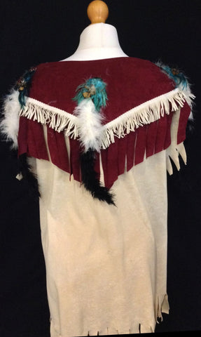 INDIAN SQUAW WITH RED BACK