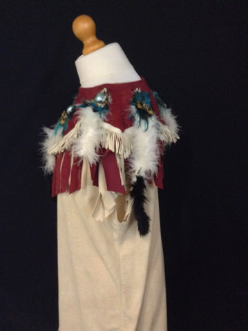 INDIAN SQUAW WITH RED SIDE