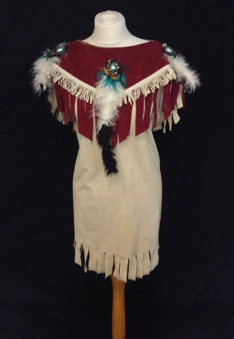 INDIAN SQUAW WITH RED