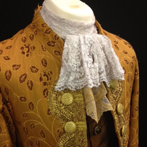 18th Century Court Gent in Gold and Leaf Pattern