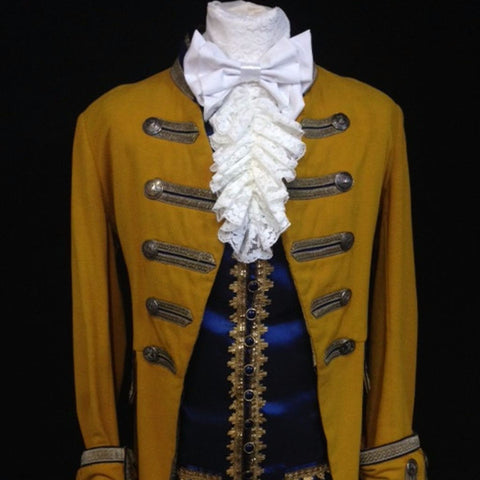18th Century Court Gent in Mustard and Blue