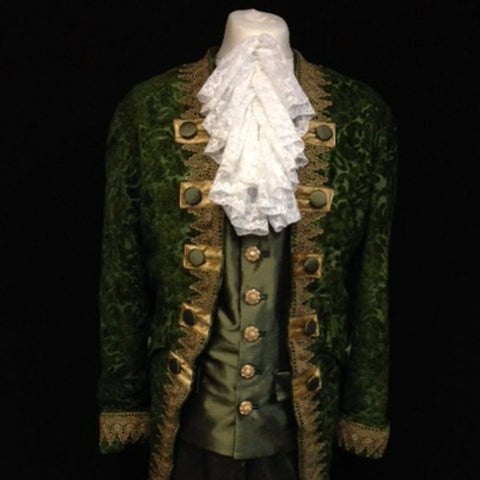 18th Century Court Gent in Forest Green