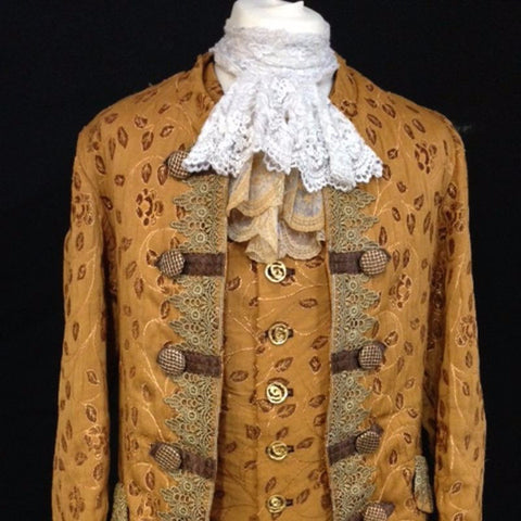 18th Century Court Gent in Gold and Brown