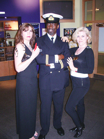 Naval James Bond with Bond Girls