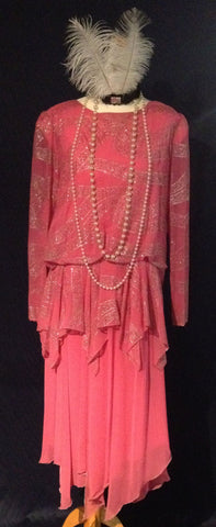 1920s Pretty In Pink dress