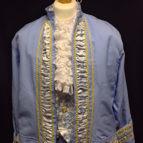 18th Century Court Gent in Pale Blue
