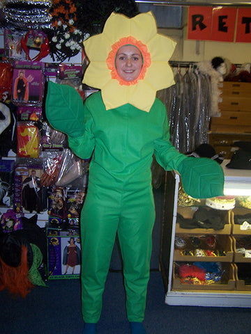 sunflower jumpsuit and headpiece fancy dress costume
