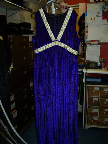 Solitaire Midnight Blue Bond Girl Dress