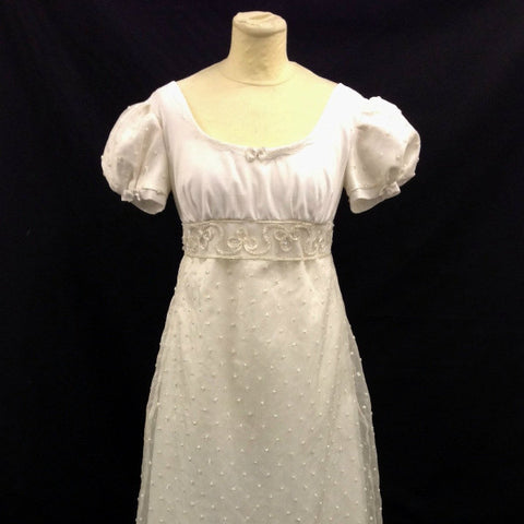 White Regency Dress