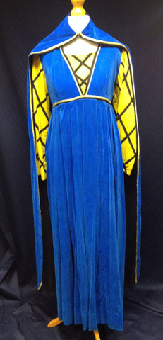 YELLOW AND BLUE LADY CAPE