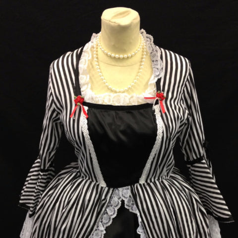 18th Century Dress in Black and White
