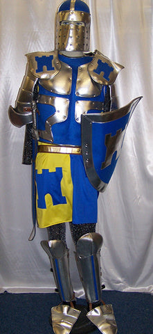blue yellow medieval knight