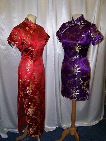 chinese ladies silk floral dresses