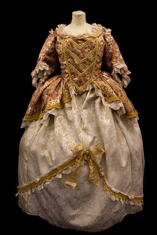 18th Century Dress in Cream and Gold