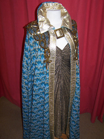 egyptian queen cleopatra costume blue and gold