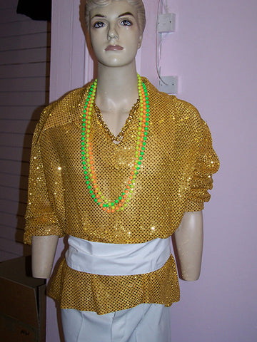 gold sequin carnival shirt