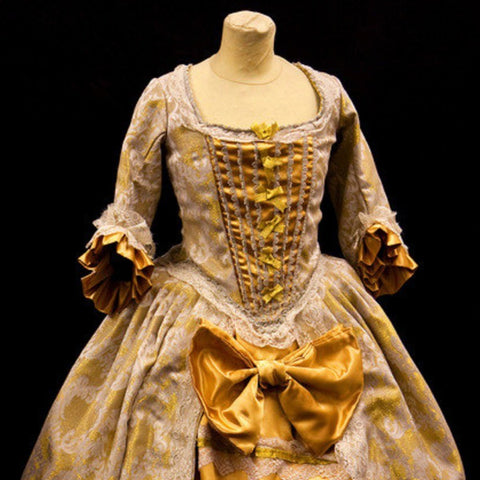18th Century Dress in Gold