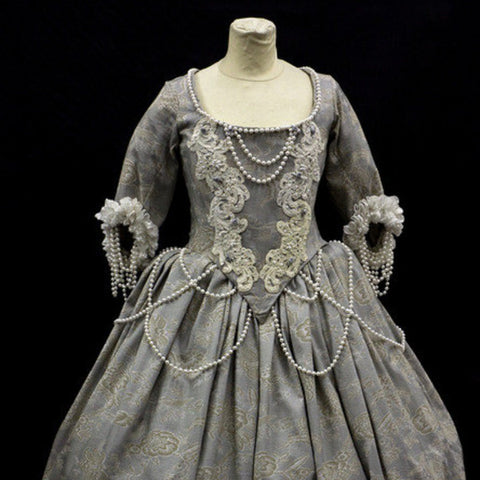 18th Century Dress in Pale Grey