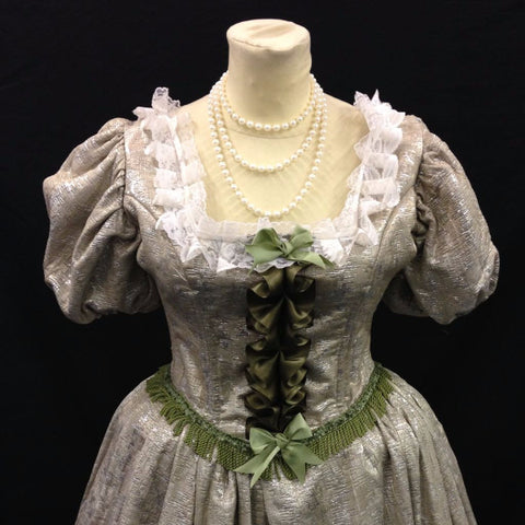 18th Century Dress in Green & Gold