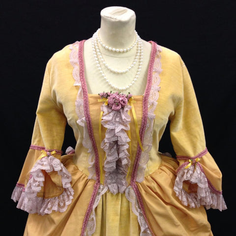 18th Century Dress in Pale Yellow