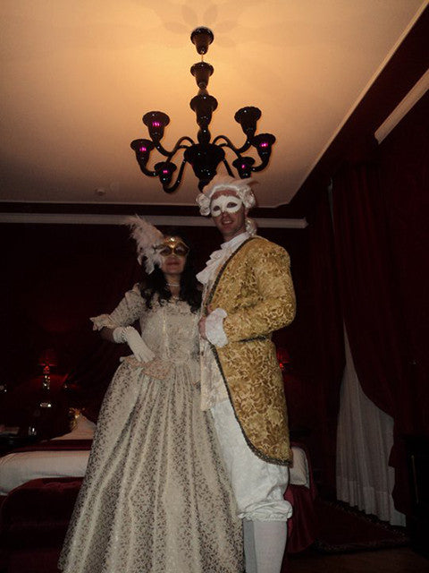 masquerade ball costumes in creams and gold – Mad World Fancy Dress