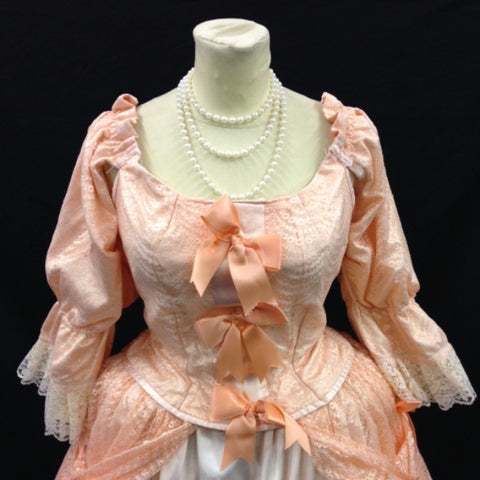 18th Century Dress in Peach