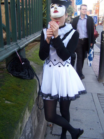 pierrot mime girl costume
