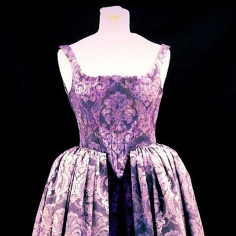 18th Century Dress in Purple