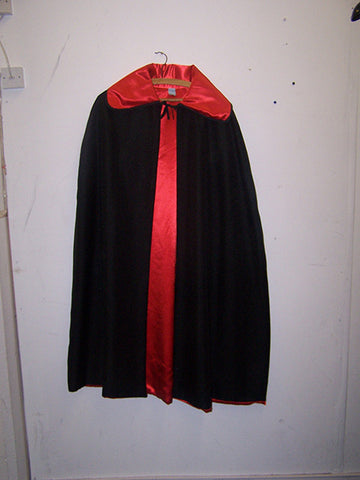 red and black reversible vampire cape