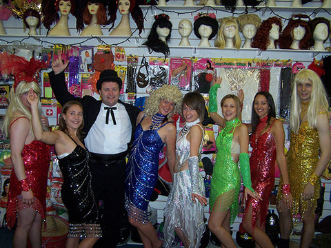ring master costume with las vegas showgirls