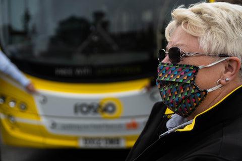 'All the colours of Transdev' face covering