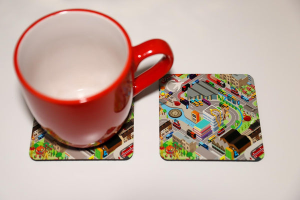 'All the buses of Transdev' Coasters two pack