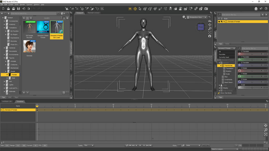 Load correct Genesis character into daz3D