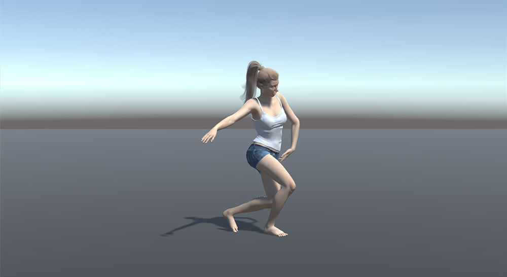 mocap dance animation in Unity Game Engine