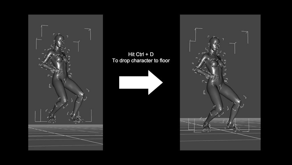 Drop figure to floor in daz after import