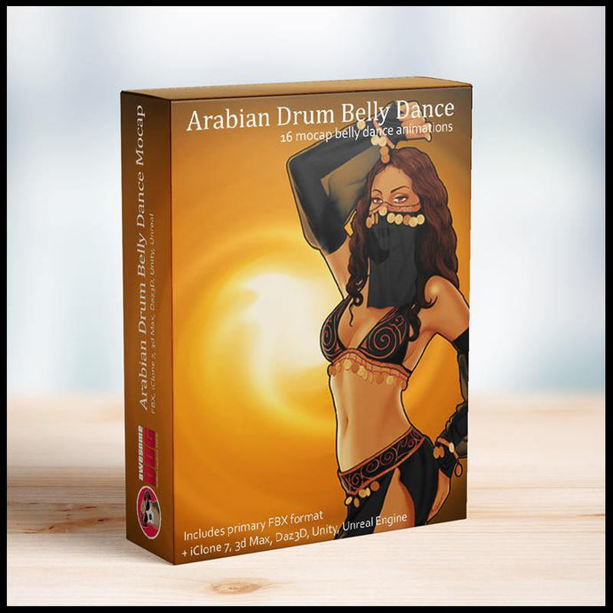 16 Arabian Drum Belly Dances MoCap - Awesome Dog Mocap