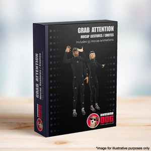 63 Grab Attention Gestures - Awesome Dog Mocap