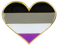 Asexual Pride Heart Brooch Pin