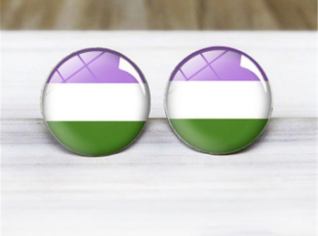 Genderqueer Stud Earrings