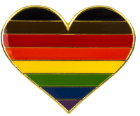 People of Color Pride Heart Brooch Pin