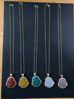 Jade Buddha Necklace with Chain