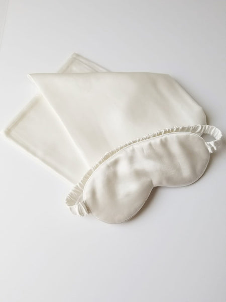 Beauty Sleep Set (Silk Pillowcase + Matching Eye Mask)