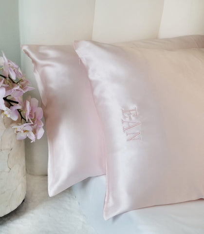 Personalized Monogrammed Silk Pillowcase