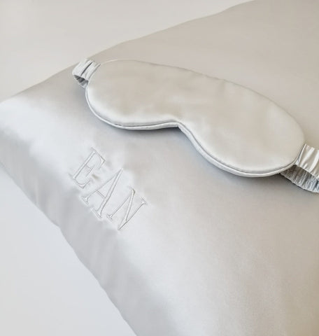 Beauty Sleep Personalized Set (Monogrammed Pillowcase + Eye Mask)