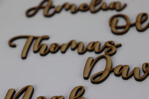 Personalised Wedding Name Signs - Guest name cut out