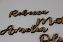Load image into Gallery viewer, Personalised Wedding Name Signs - Guest name cut out
