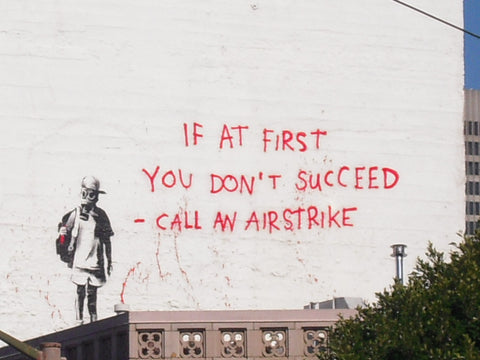 Banksy Airstrike Wall Art - Strive for peace