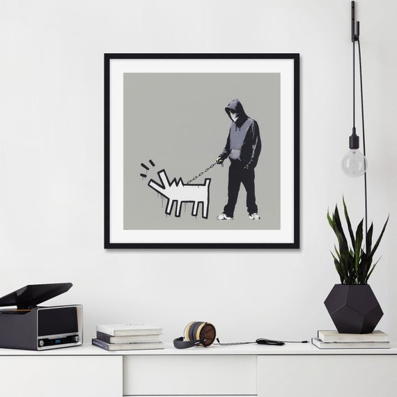 Banksy Choose Your Weapon wall art canvas