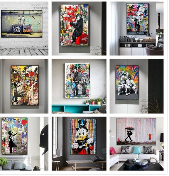 Banksy Wall Art for Home Decor