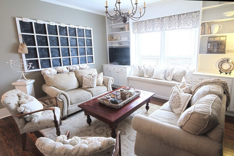 How Do You Decorate a Large Wall Over a Couch? Chalkboard Wall